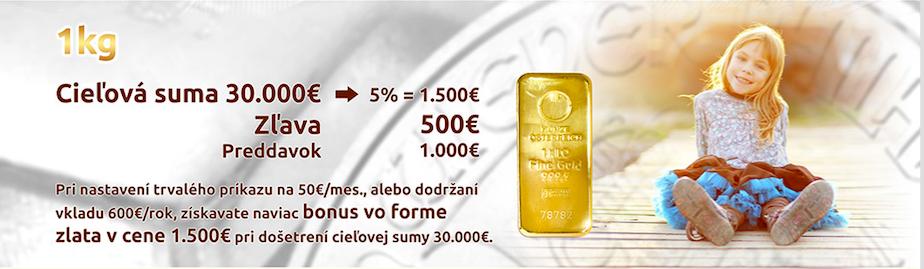 Využite Brexit a získajte bonus 500 eur vo forme fyzického zlata